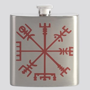 Blood Red Viking Compass : Vegvisir Flask