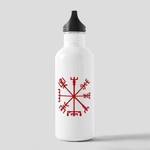 Blood Red Viking Compass : Vegvisir Sports Water B