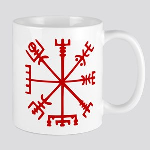 Blood Red Viking Compass : Vegvisir Mugs