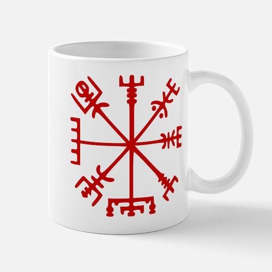 Blood Red Viking Compass : Vegvisir Mugs