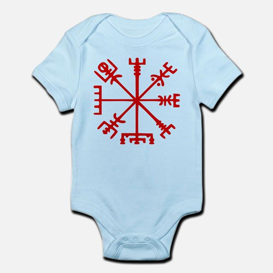 Blood Red Viking Compass : Vegvisir Body Suit