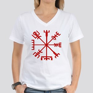 Blood Red Viking Compass : Vegvisir T-Shirt