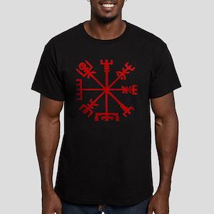 Blood Red Viking Compass : Vegvisir T-Shirt