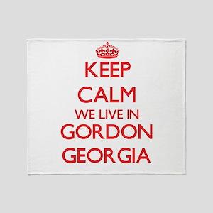 Keep calm we live in Gordon Georgia Throw Blanket
