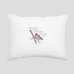 ENDURE WHEN YOU MUST Rectangular Canvas Pillow