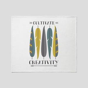 Cultivate Creativity Throw Blanket