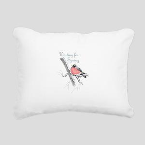 WAITING FOR SPRING Rectangular Canvas Pillow