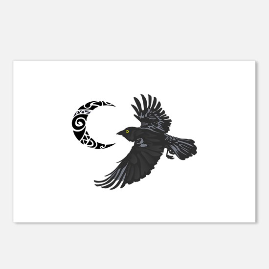 RAVEN AND MOON Postcards (Package of 8)