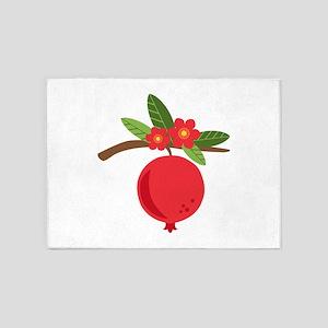 Pomegranate Blossom Fruit Tree Branch 5'x7'Area Ru