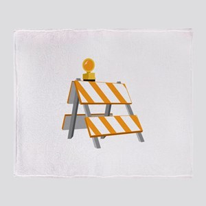 Road Construction Detour Throw Blanket