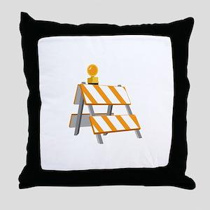 Road Construction Detour Throw Pillow