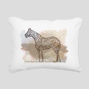 American Quarter Horse i Rectangular Canvas Pillow