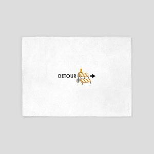 Traffic Detour 5'x7'Area Rug