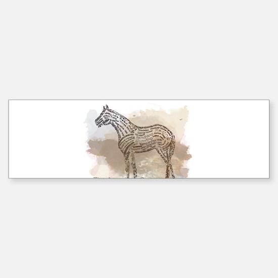American Quarter Horse in Typograph Bumper Bumper Bumper Sticker