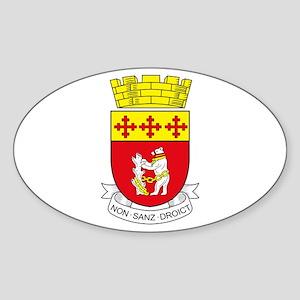 Warwickshire County Council COA Oval Sticker