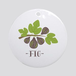 Fig Ornament (Round)