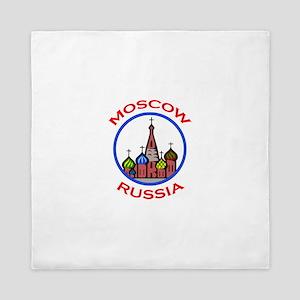 TRAVEL MOSCOW RUSSIA Queen Duvet