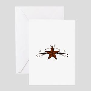 WESTERN STAR SCROLL Greeting Cards