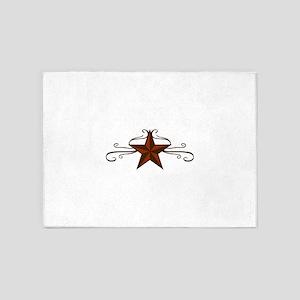 WESTERN STAR SCROLL 5'x7'Area Rug