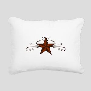 WESTERN STAR SCROLL Rectangular Canvas Pillow