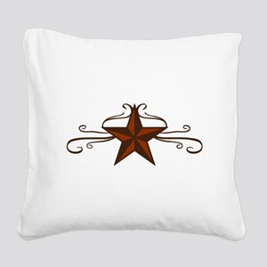 WESTERN STAR SCROLL Square Canvas Pillow