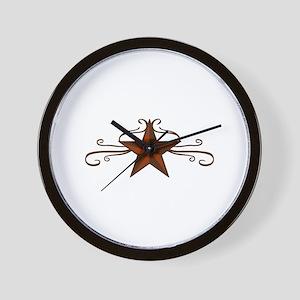 WESTERN STAR SCROLL Wall Clock