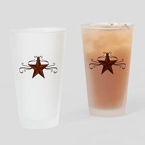 WESTERN STAR SCROLL Drinking Glass
