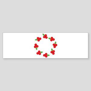 Poppy Wreath Bumper Sticker