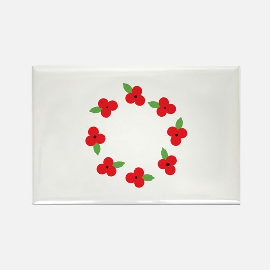 Poppy Wreath Magnets