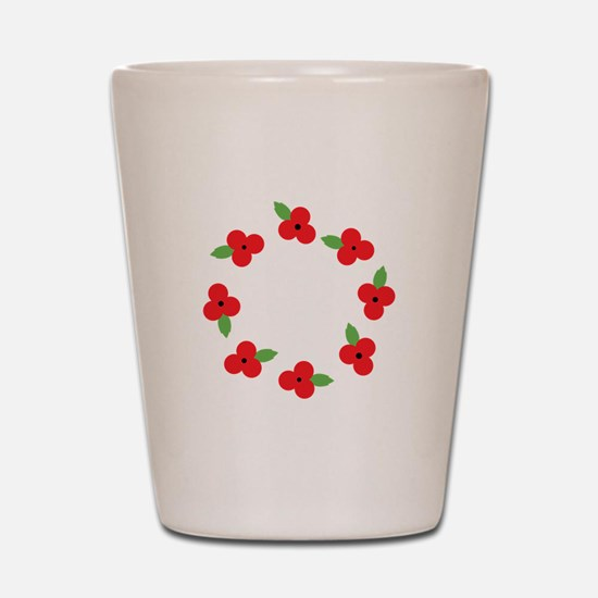 Poppy Wreath Shot Glass