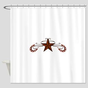 HORSESHOE STAR SCROLL Shower Curtain