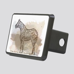 The Quarter Horse in Typography Hitch Cover