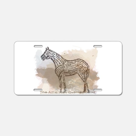 The Quarter Horse in Typography Aluminum License P