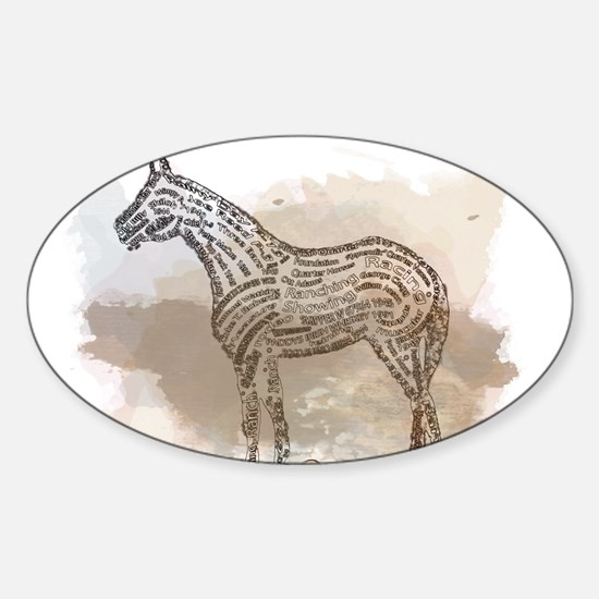 The Quarter Horse in Typography Decal