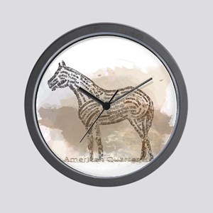 The Quarter Horse in Typography Wall Clock