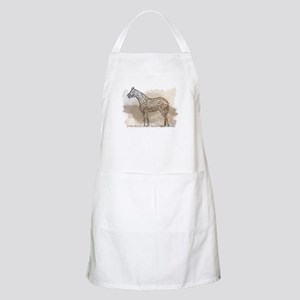 The Quarter Horse in Typography Apron