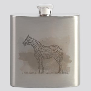 The Quarter Horse in Typography Flask