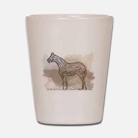 The Quarter Horse in Typography Shot Glass