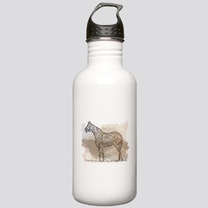 The Quarter Horse in Typography Water Bottle