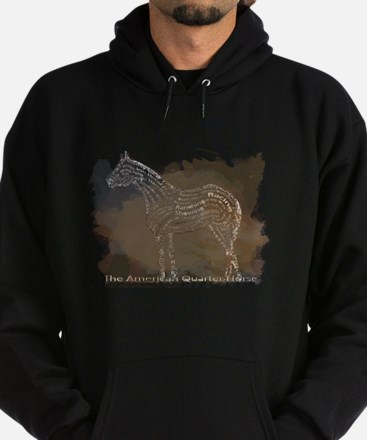 The Quarter Horse in Typography Hoodie