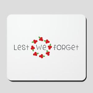 Lest we forget Mousepad