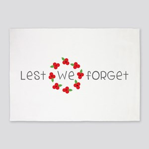 Lest we forget 5'x7'Area Rug