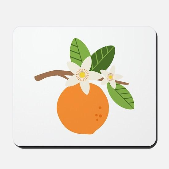 Orange Blossom Citrus Fruit Tree Branch Mousepad