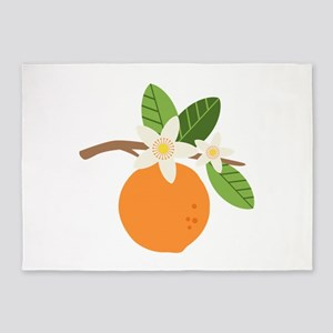 Orange Blossom Citrus Fruit Tree Branch 5'x7'Area