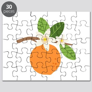 Orange Blossom Citrus Fruit Tree Branch Puzzle