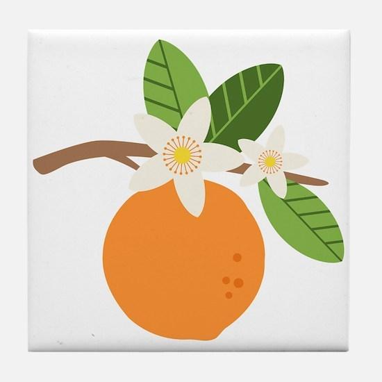 Orange Blossom Citrus Fruit Tree Branch Tile Coast