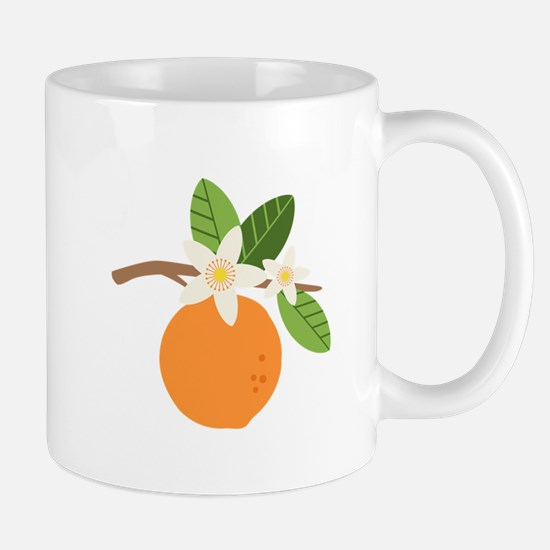 Orange Blossom Citrus Fruit Tree Branch Mugs