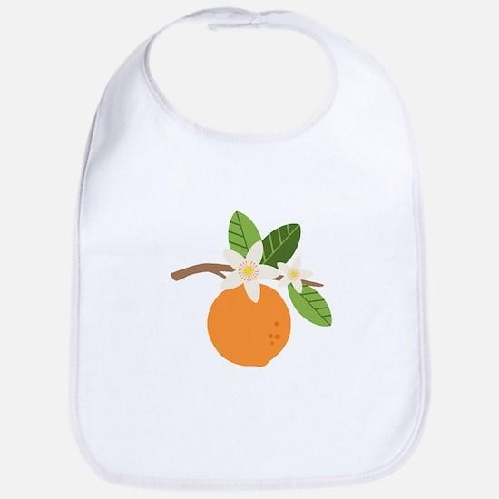Orange Blossom Citrus Fruit Tree Branch Bib