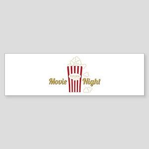 Movie Night Popcorn Bumper Sticker