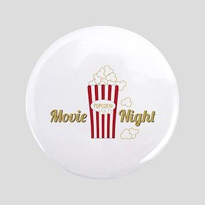 "Movie Night Popcorn 3.5"" Button"